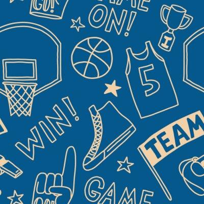 Tapeta basketball pattern seamless design graphic