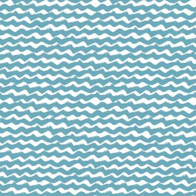 Tapeta Bez szwu deseń wody ręcznie rysowane faliste pociągnięcia pędzla