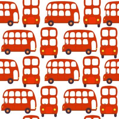 Tapeta bez szwu deseń z london czerwony autobus - ilustracji wektorowych, eps