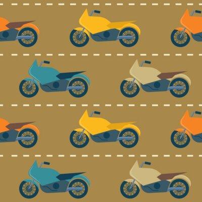 Tapeta Bez szwu deseń z motocykli