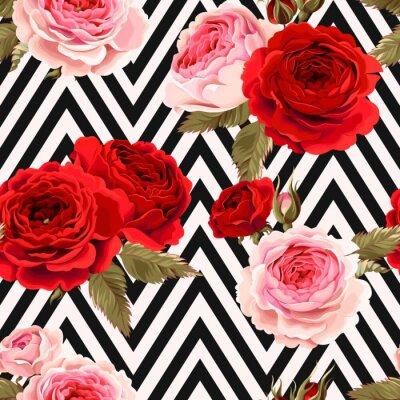 Tapeta Bez szwu deseń z róż ziemi