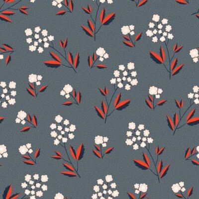 Tapeta Bez szwu kwiatowy wzór. Ilustracji wektorowych