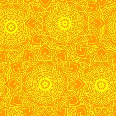 Tapeta bez szwu mandala słońce yelow
