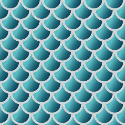 Tapeta Bez szwu niebieski wzór skali ryb