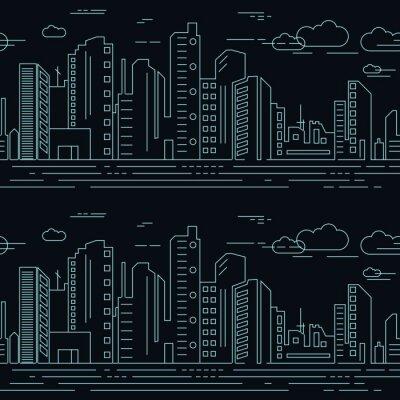 Tapeta Bezproblemowa drapacze chmur w mieście. Obraz Wektorowy