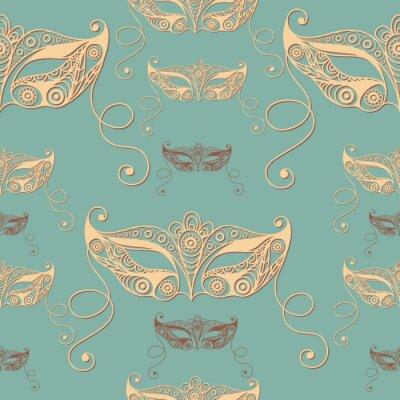 Tapeta Bezszwowa tekstura z dekoracyjną maską 1