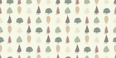 Tapeta bezszwowe szkice drzew