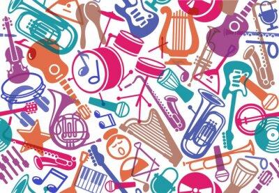 Tapeta Bezszwowe tło muzyczne
