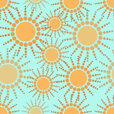Tapeta bezszwowe tło wzór słonecznie