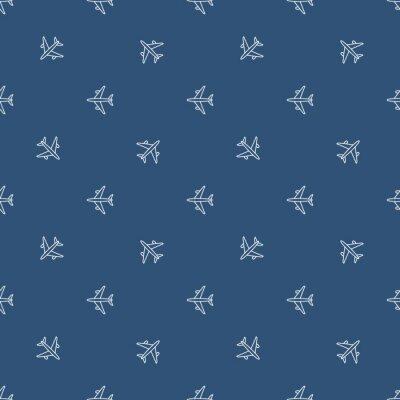 Tapeta Bezszwowe wzór samolotu