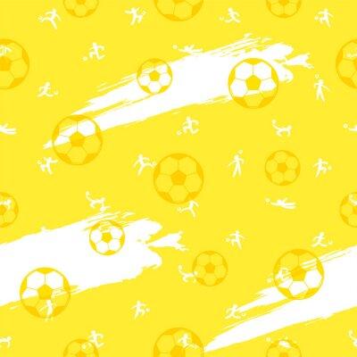 Tapeta Bezszwowy deseniowy tło dla futbolowego lub futbolowego sporta tematu