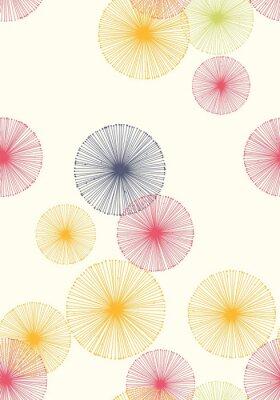 Tapeta Bezszwowy wzór z dandelions. Tło wektor.