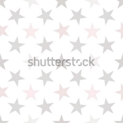 Tapeta Bezszwowy wzór z gwiazdami na białym tle. Ilustracji wektorowych.