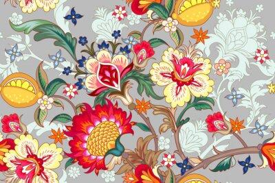 Tapeta Bezszwowy wzór z stylizowanymi kwiatami