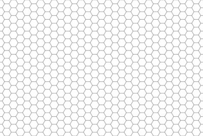 Tapeta Black and white hexagon honeycomb seamless pattern