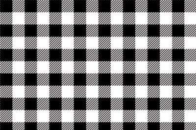 Tapeta Black gingham pattern background.Texture from rhombus.Vector illustration.EPS-10.