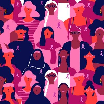 Tapeta Breast cancer awareness diverse background pattern
