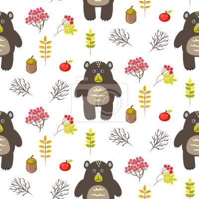 Tapeta Cartoon Bears In The Wood