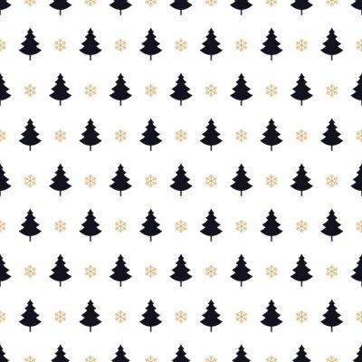 Tapeta choinka szwu wzór karty na białym tle