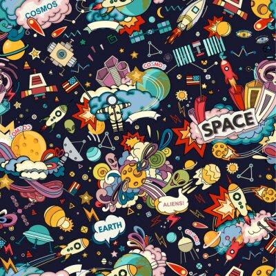 Tapeta Cosmos Seamless Pattern