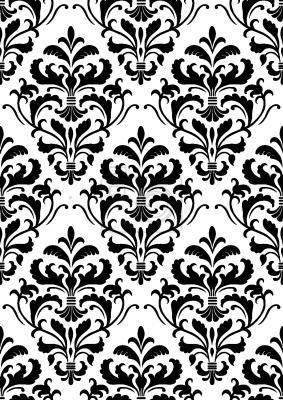 Tapeta Czarny Biały Barok