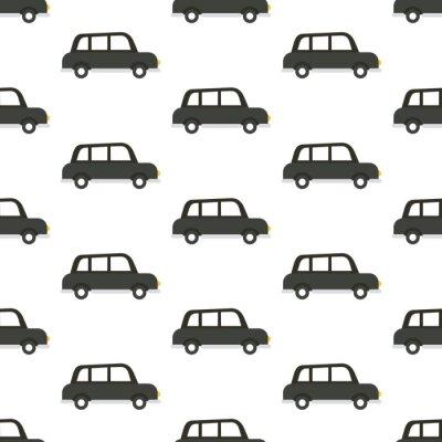 Tapeta Czarny samochód bez szwu
