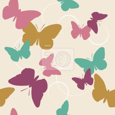 Tapeta Czas Motyle Vintage