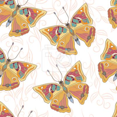 Tapeta Delikatne Motyle