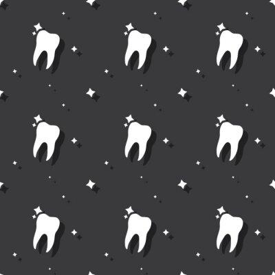 Tapeta Dentysta molarny ząb Bezszwowy Deseniowy Ciemny tło