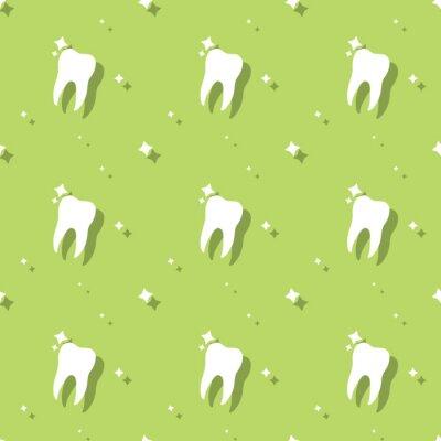 Tapeta Dentysta molowy ząb higieny wzór