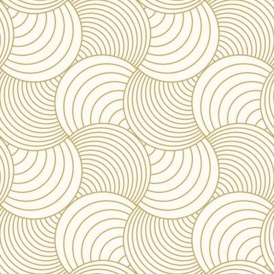 Tapeta Deseniowy bezszwowego okręgu abstrakta fala tła lampasa złocisty luksusowy kolor i linia. Wektor linii geometrycznej. Boże Narodzenie w tle.