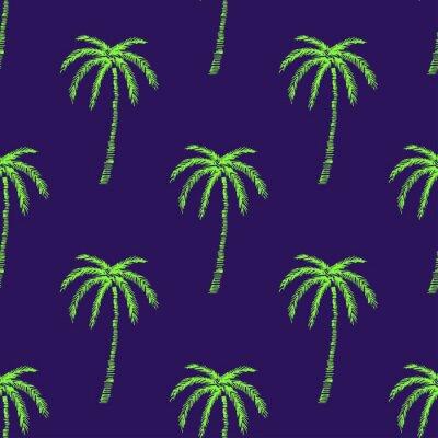 Tapeta Dłoń drzewo wzór tekstura. Prosta ilustracja drzewko palmowe wektoru wzór bezszwowy dla jakaś sieci projekta lub tkaniny. Abstrakcyjne tło. Wektor.
