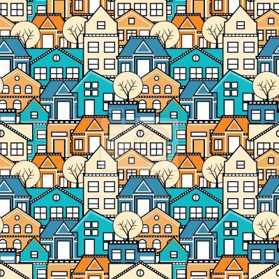 Tapeta domy miejskie