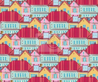 Tapeta Domy Miejskie Z Powyżej