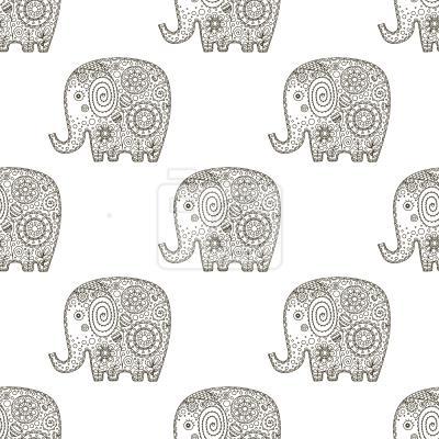 Tapeta Doodle Elephants