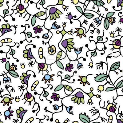 Tapeta Doodle Flora