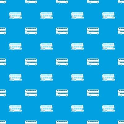 Tapeta Dwupunktowy autobusowy wzór bezszwowy niebieski