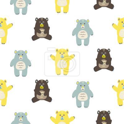Tapeta Dziecięce Niedźwiedzie na Cuddle