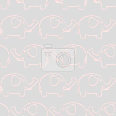 Tapeta Dziecko Elephant March Dziecko