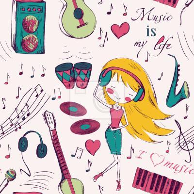Tapeta Dziewczyny Miłość Muzyka