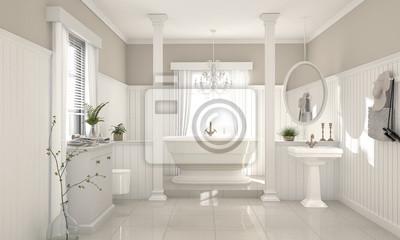 Tapeta Elegancka łazienka W Stylu Rustykalnym
