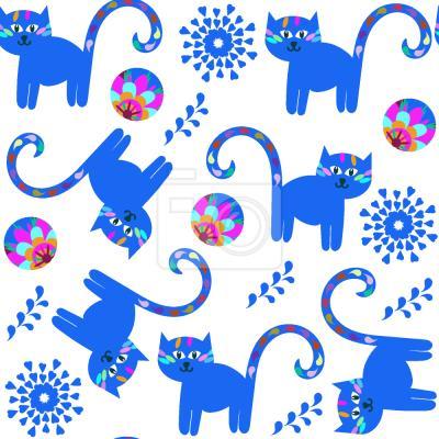 Tapeta fantazyjne Koty