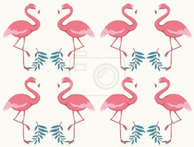 Tapeta Flamingo Tańca