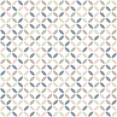 Tapeta Geometric seamless pattern in pastel colors. Mid century design. Vector wallpaper.