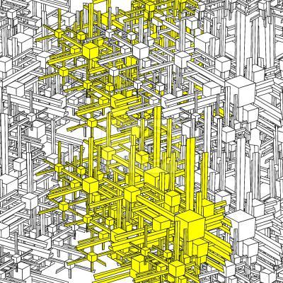 Tapeta Geometryczna Metropolia