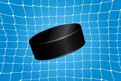 Tapeta Goal - hokejowy krążek w siatce