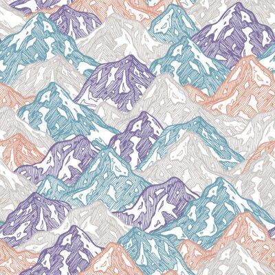 Tapeta Góry bez szwu deseń. Zabawa góry żartują ilustrację. Ilustracji wektorowych