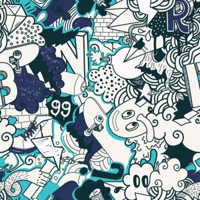 Tapeta Graffiti kolorowe bez szwu wzór