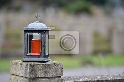 Tapeta Grobowa Lampa Na Cmentarzu W Muenster Germany