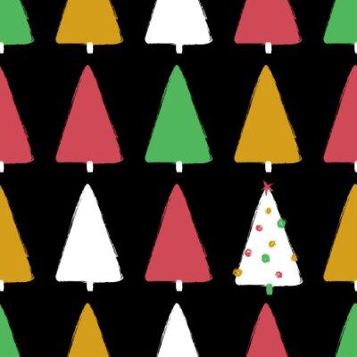 Tapeta Grunge kolorowy lasowy bezszwowy wzór.